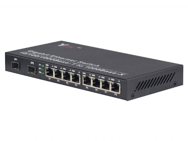 10/100/1000M 2光8电光纤交换机